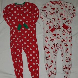 Other - Girls 5T footed Christmas Pajamas